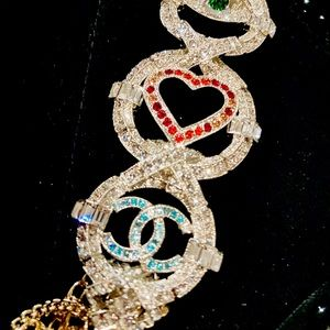 CHANEL Crystal Multistrand Necklace